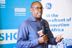 Andrew Waititu, General Manager, GE Healthcare East Africa speaking at the partnership ceremony.jpg