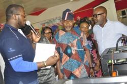 Demilade Adesiyan, GE Lagos Garage Program Manager, Hon Ifedayo Abegunde. Secretary to the Ondo Stat