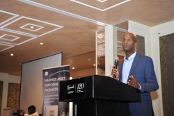Getty Melaku,Chief Financial Officer for GE Africa addresses the audience at the event.jpg
