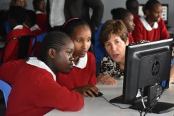 The coding challenge saw some 46 girls in Grades 6 and 7 at the SHOFCO School for girls undergo an e